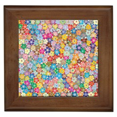 Floral Flowers Abstract Art Framed Tiles