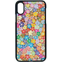 Floral Flowers Abstract Art Iphone X Seamless Case (black)