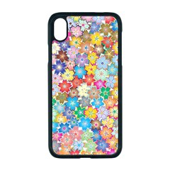 Floral Flowers Abstract Art Iphone Xr Seamless Case (black)