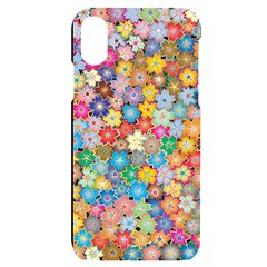 Floral Flowers Abstract Art Iphone X/xs Black Uv Print Case