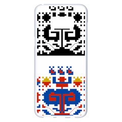 Folk Art Fabric Samsung Galaxy S8 Plus White Seamless Case