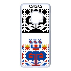 Folk Art Fabric Samsung Galaxy S9 Seamless Case(white)