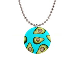 Fruite Avocado 1  Button Necklace