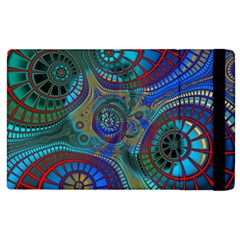 Fractal Abstract Line Wave Apple Ipad 2 Flip Case by HermanTelo