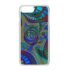 Fractal Abstract Line Wave Iphone 8 Plus Seamless Case (white)