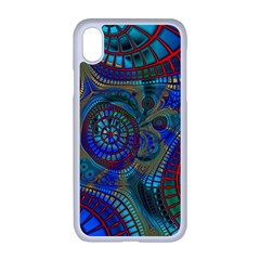 Fractal Abstract Line Wave Iphone Xr Seamless Case (white)
