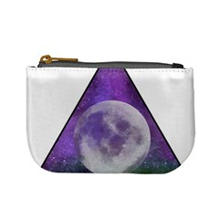 Form Triangle Moon Space Mini Coin Purse by HermanTelo
