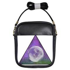 Form Triangle Moon Space Girls Sling Bag by HermanTelo