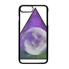 Form Triangle Moon Space Iphone 8 Plus Seamless Case (black)