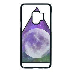 Form Triangle Moon Space Samsung Galaxy S9 Seamless Case(black)