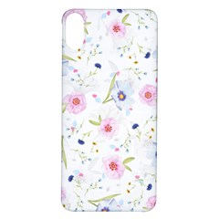 Floral Pink Blue Iphone X/xs Soft Bumper Uv Case