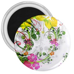 Flowers Floral 3  Magnets by HermanTelo