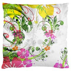 Flowers Floral Large Cushion Case (two Sides)