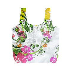 Flowers Floral Full Print Recycle Bag (m)