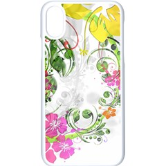 Flowers Floral Iphone X Seamless Case (white)