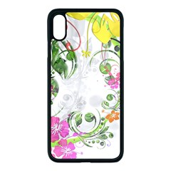Flowers Floral Iphone Xs Max Seamless Case (black)