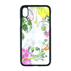 Flowers Floral Iphone Xr Seamless Case (black)