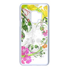 Flowers Floral Samsung Galaxy S9 Seamless Case(white)