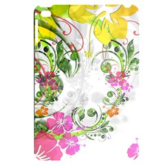 Flowers Floral Apple Ipad Mini 4 Black Uv Print Case by HermanTelo