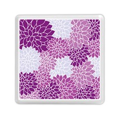 Floral Purple Memory Card Reader (square) by HermanTelo