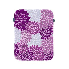 Floral Purple Apple Ipad 2/3/4 Protective Soft Cases by HermanTelo