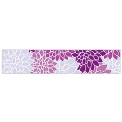 Floral Purple Small Flano Scarf
