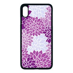 Floral Purple Iphone Xs Max Seamless Case (black)