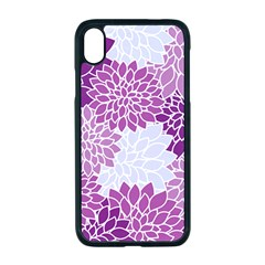 Floral Purple Iphone Xr Seamless Case (black)