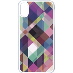 Geometric Blue Violet Pink Iphone X Seamless Case (white)