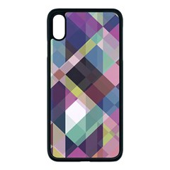 Geometric Blue Violet Pink Iphone Xs Max Seamless Case (black)