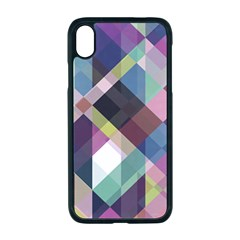 Geometric Blue Violet Pink Iphone Xr Seamless Case (black)