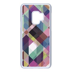 Geometric Blue Violet Pink Samsung Galaxy S9 Seamless Case(white)