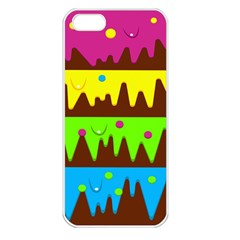 Illustration Abstract Graphic Rainbow Iphone 5 Seamless Case (white)