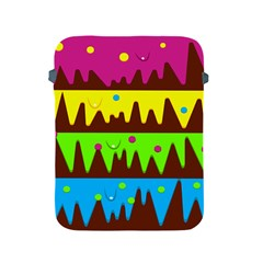 Illustration Abstract Graphic Rainbow Apple Ipad 2/3/4 Protective Soft Cases by HermanTelo