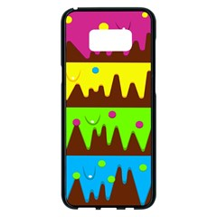 Illustration Abstract Graphic Rainbow Samsung Galaxy S8 Plus Black Seamless Case