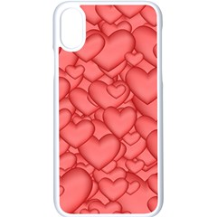 Hearts Love Valentine Iphone X Seamless Case (white)