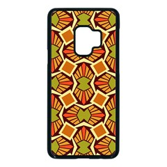 Geometry Shape Retro Samsung Galaxy S9 Seamless Case(black)