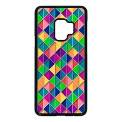 Geometric Triangle Samsung Galaxy S9 Seamless Case(black)