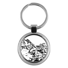 Mountain Ink Key Chain (round) by HermanTelo