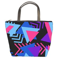 Memphis Pattern Geometric Abstract Bucket Bag by HermanTelo