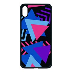 Memphis Pattern Geometric Abstract Iphone Xs Max Seamless Case (black)