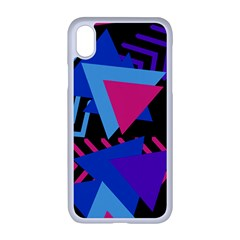 Memphis Pattern Geometric Abstract Iphone Xr Seamless Case (white)