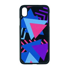 Memphis Pattern Geometric Abstract Iphone Xr Seamless Case (black)
