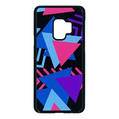 Memphis Pattern Geometric Abstract Samsung Galaxy S9 Seamless Case(black)
