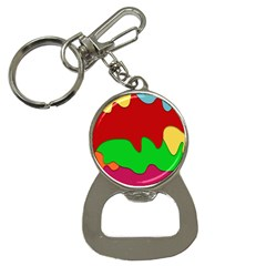 Liquid Forms Water Background Bottle Opener Key Chain by HermanTelo