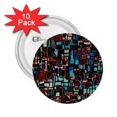 Mosaic Abstract 2 25  Buttons (10 Pack)  by HermanTelo