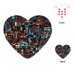 Mosaic Abstract Playing Cards (heart)