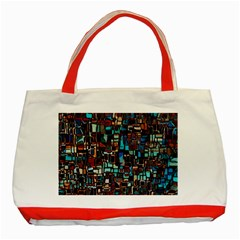 Mosaic Abstract Classic Tote Bag (red) by HermanTelo