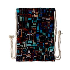 Mosaic Abstract Drawstring Bag (small)