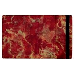 Marble Red Yellow Background Apple Ipad 2 Flip Case by HermanTelo